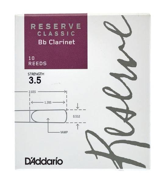 Bilde av D'addario Reserve Classic Bb-klarinett no 3,5